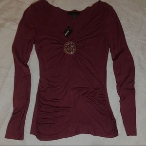 Express Burgundy Blouse